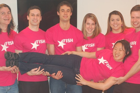 Pretty In Pink   Fish Coaching Staff T-Shirt Photo