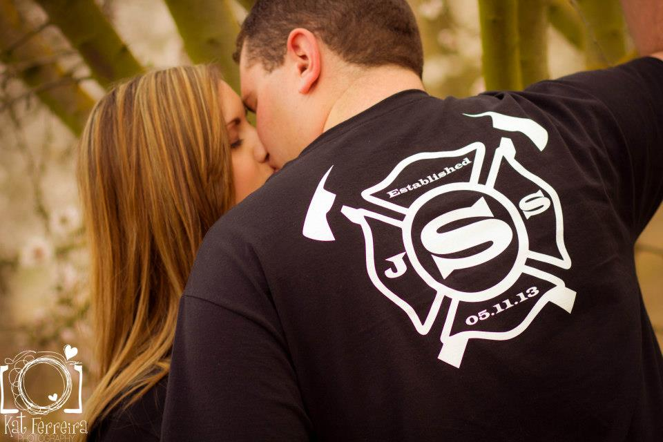 680b37bf Custom T-Shirts for Engagement Photo <3 - Shirt Design Ideas