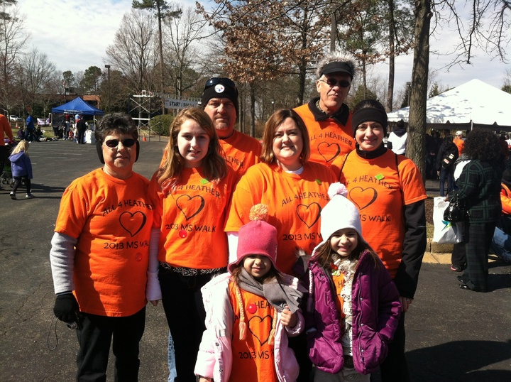 Ms Walk Team All 4 Heather T-Shirt Photo