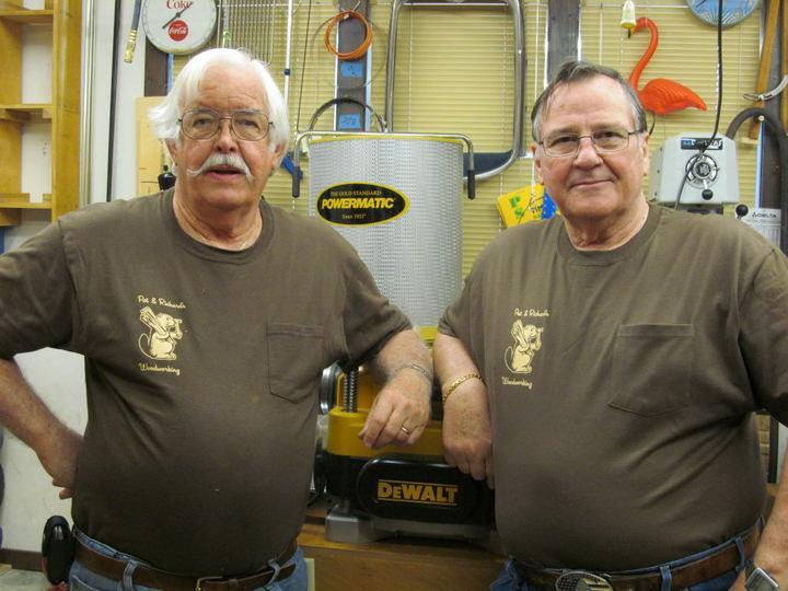 Pat & Richard Plotting Their Next Project T-Shirt Photo