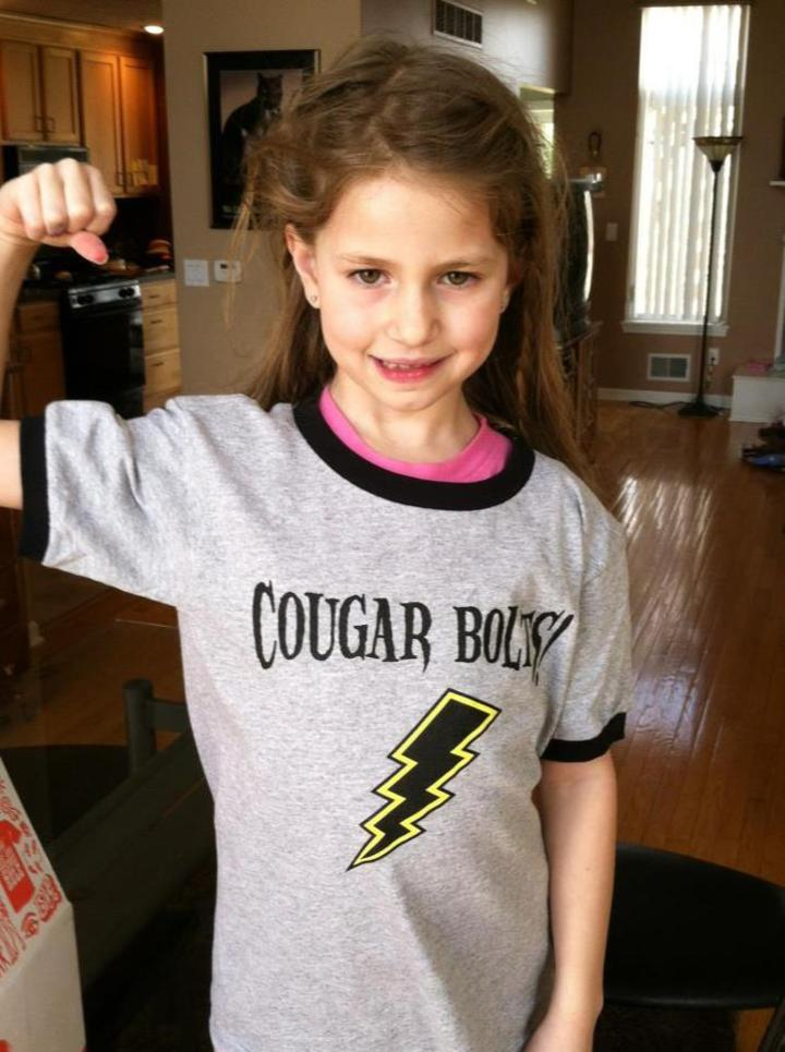 Zee Models The New Cougar Bolt Tee Shirt! T-Shirt Photo