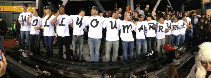 Giant's Vs A's Proposal T-Shirt Photo