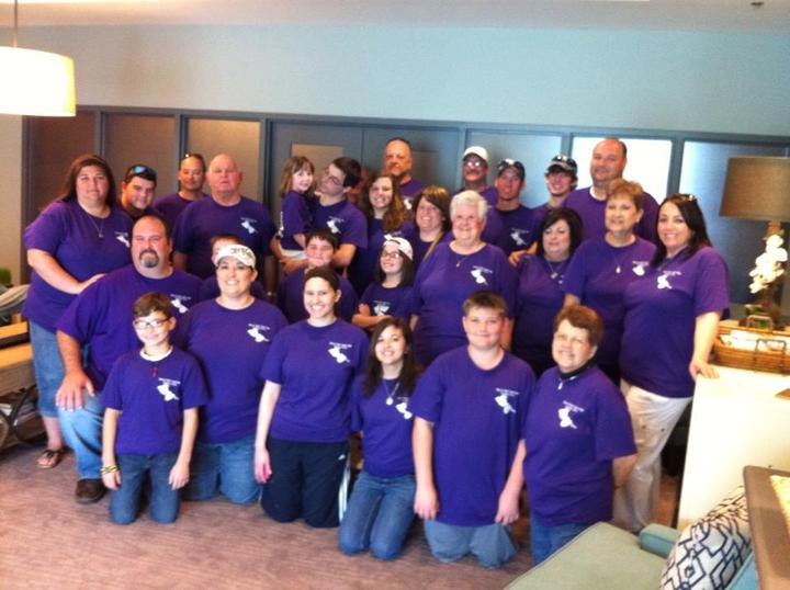 Family At P. Taylor Hope Lodge Donation Drive T-Shirt Photo