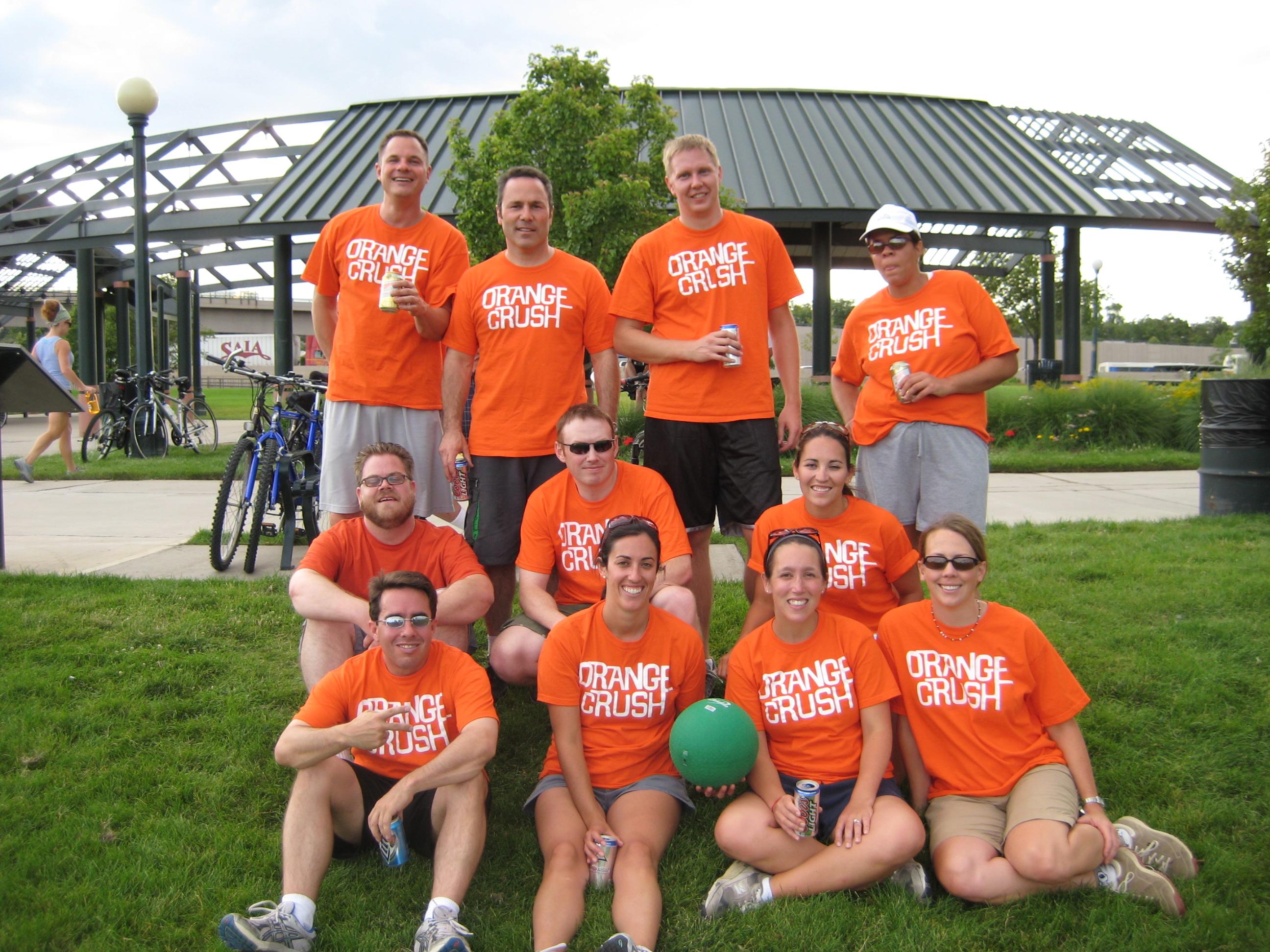 Custom T-Shirts for Orange Crush Kickball Team - Shirt ...