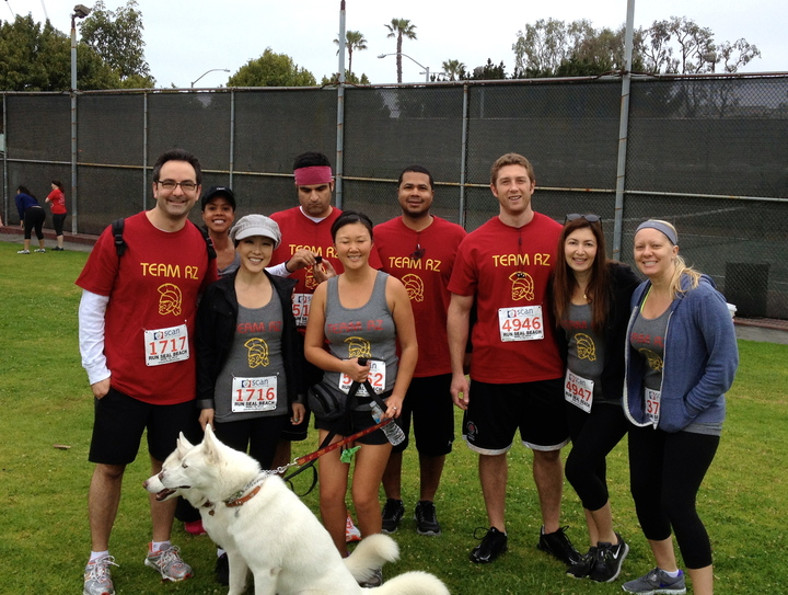Team Rz At Run Seal Beach 5k T-Shirt Photo