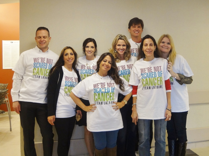 We're Not Scared Of Cancer (Team Latham) T-Shirt Photo