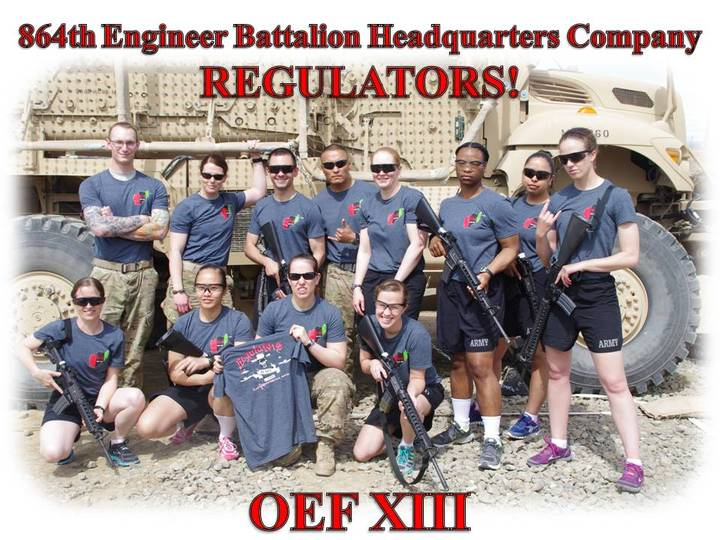 Oef Xiii  864th En Bn Hhc Regulators T-Shirt Photo