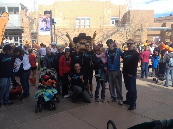 The Sweets Team   Laramie Wyoming Walk Ms  T-Shirt Photo