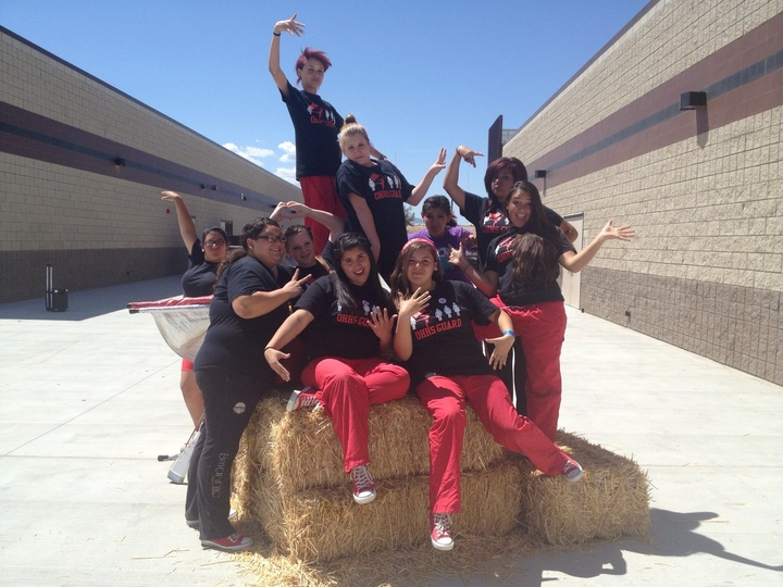 Color Guard Pep Rally Fun!!! :) T-Shirt Photo