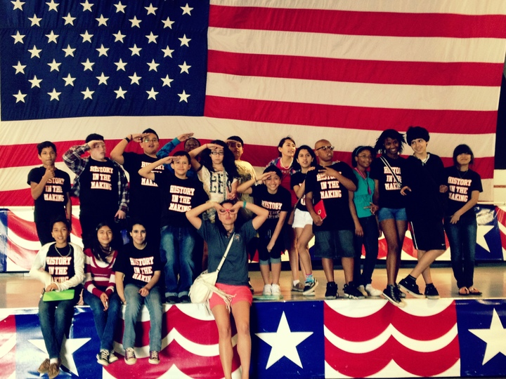 Social Studies Club At The Uss Lexington T-Shirt Photo