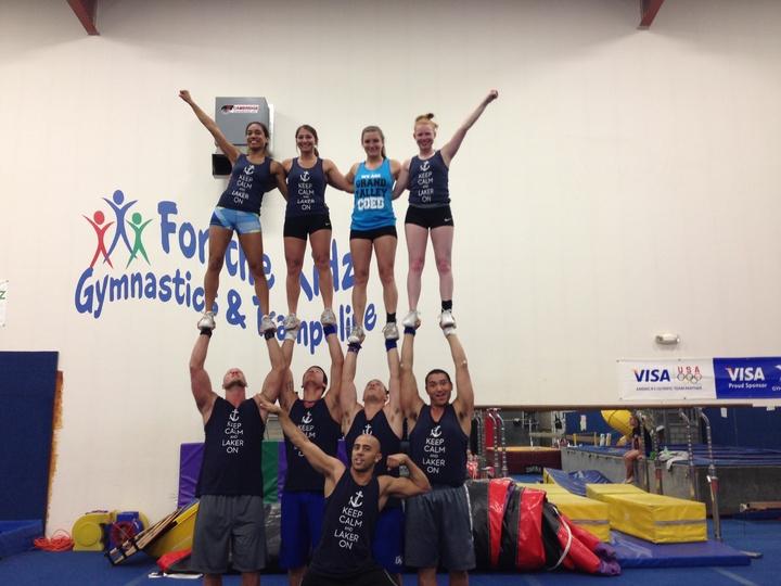Typical Day For Gvsu Coed Cheerleaders  T-Shirt Photo