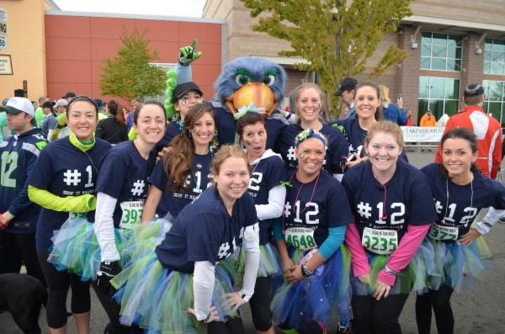 Seahawks 12k At The Landing T-Shirt Photo