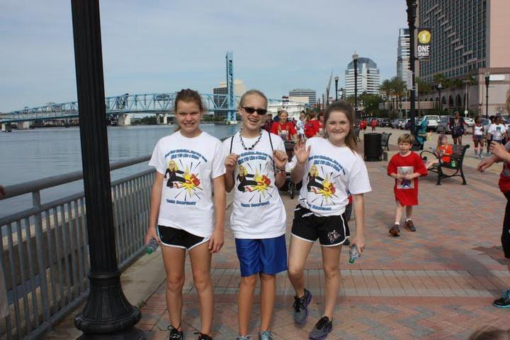 Courtney & Friends Walking For The Cure! T-Shirt Photo