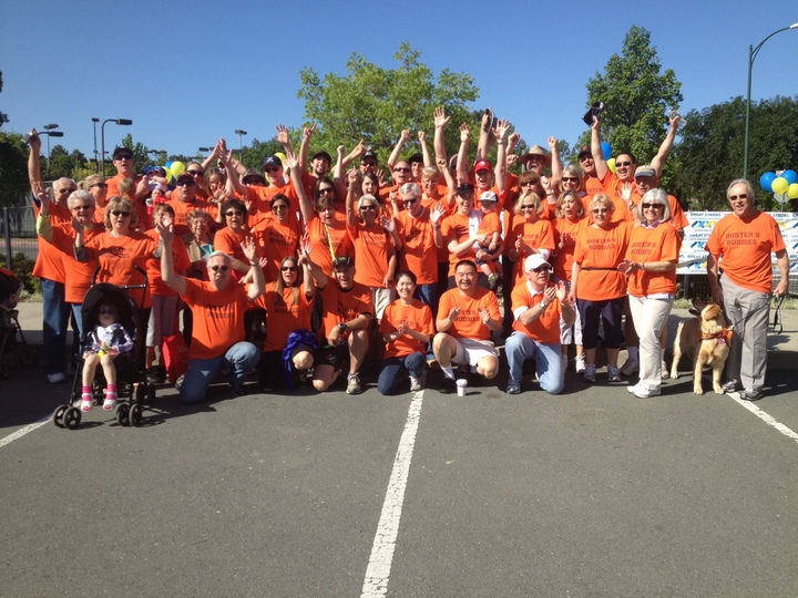 """Buster's Buddies"" Great Strides Walk Team 2013 T-Shirt Photo"