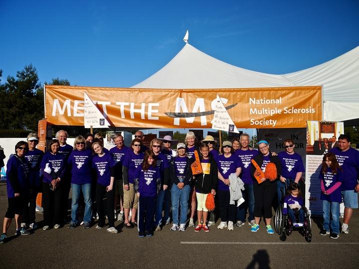 Purple Moo Vers   Ms Walk T-Shirt Photo