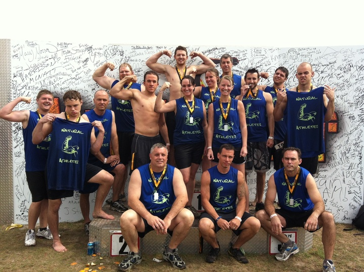 Team Natural Athletes Gets Muddy T-Shirt Photo