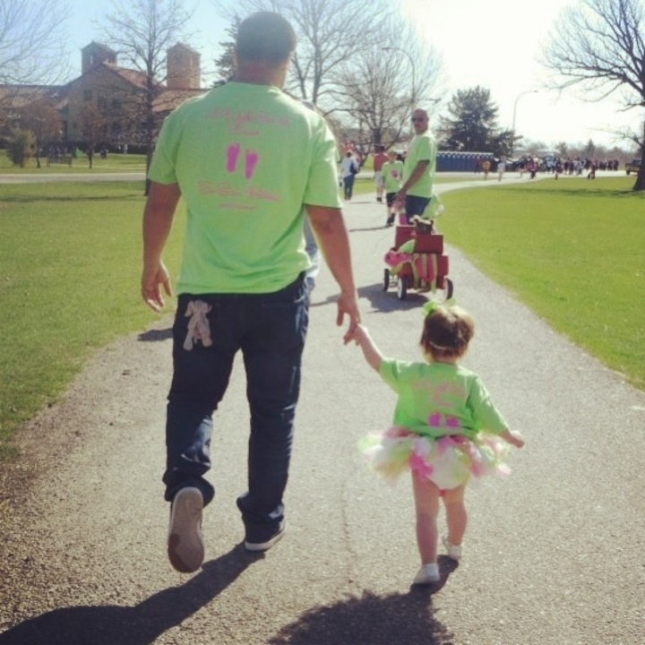 Daddy With His Princess Preemie T-Shirt Photo