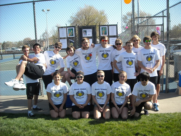 Mountain Home, Id  Tiger Tennis Seniors 2013 T-Shirt Photo