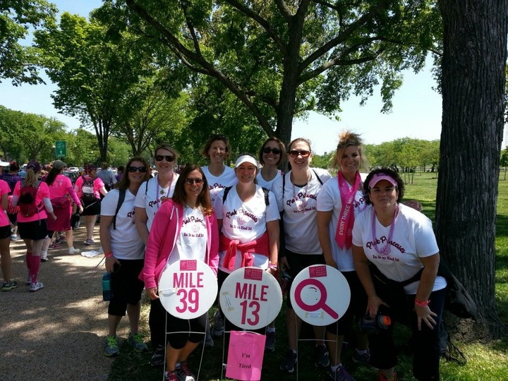 2 Days And 39.3 Miles.... The Pink Princesses Are In It To End It!! T-Shirt Photo