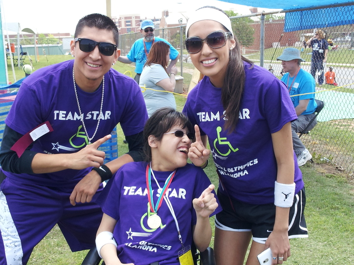 Lizzy Is A Gold Medal Electric Wheelchair 25 M Winner At Special Olympics Oklahoma! T-Shirt Photo