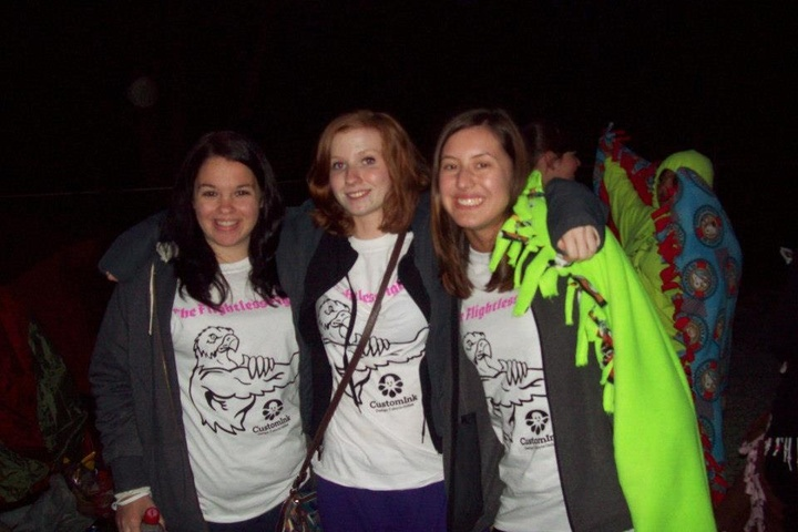 Some Of The Flightless Fighters At The Largest All Youth Relay For Life Event In The World! T-Shirt Photo