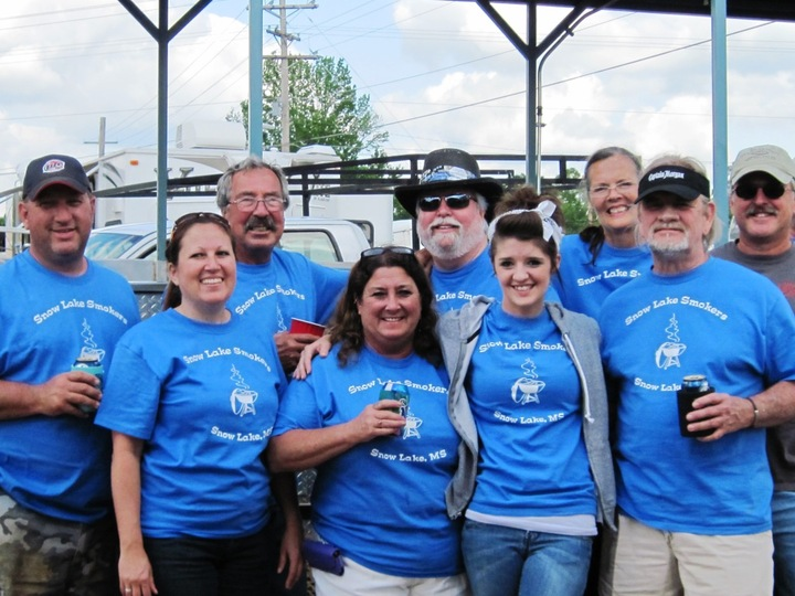 Snow Lake Smokers Bbq Team T-Shirt Photo