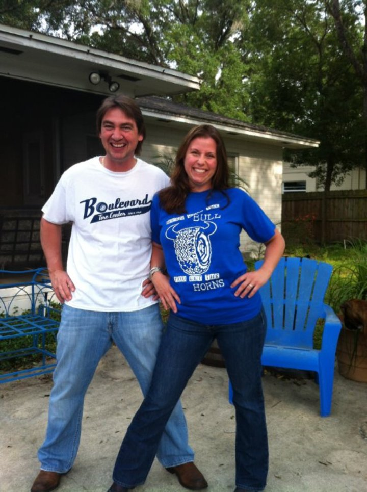 Grabbin' That Boulevard Bull By The Horns! T-Shirt Photo
