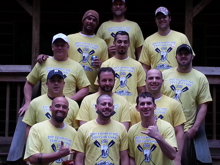 Class 5 Rapids   Team Boats And Bros T-Shirt Photo