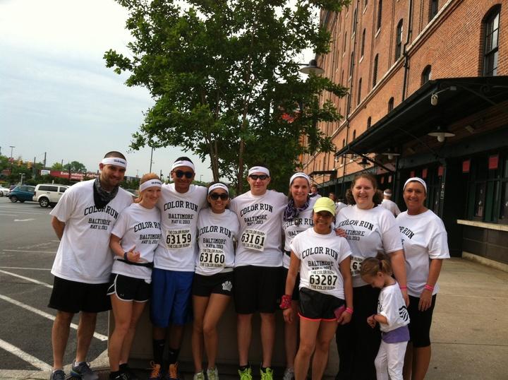 Baltimore Color Run 2013 Team Angel Runners T-Shirt Photo