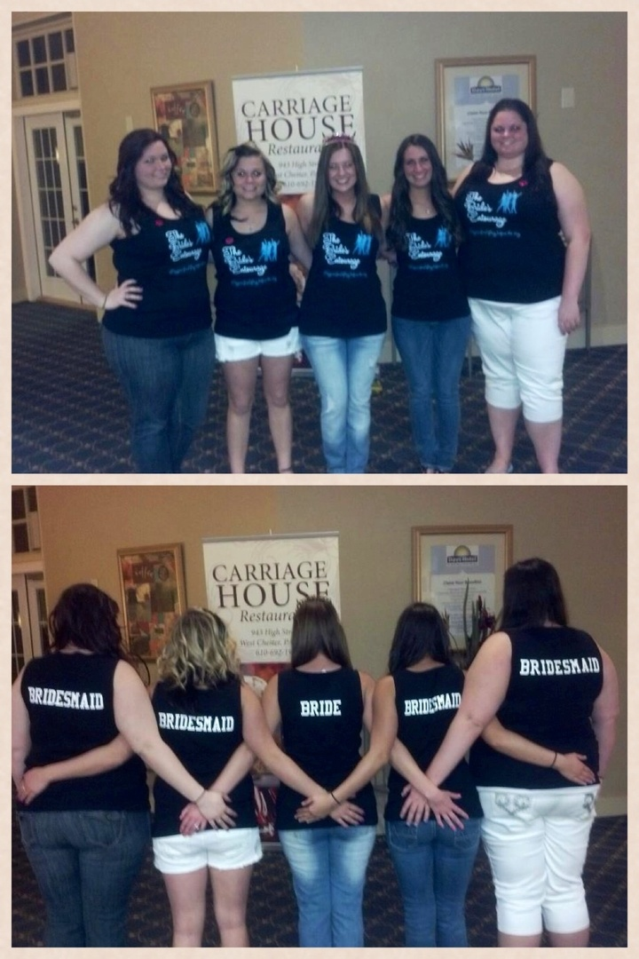 The Brides Entourage:  Megan's Bachelorette Party T-Shirt Photo
