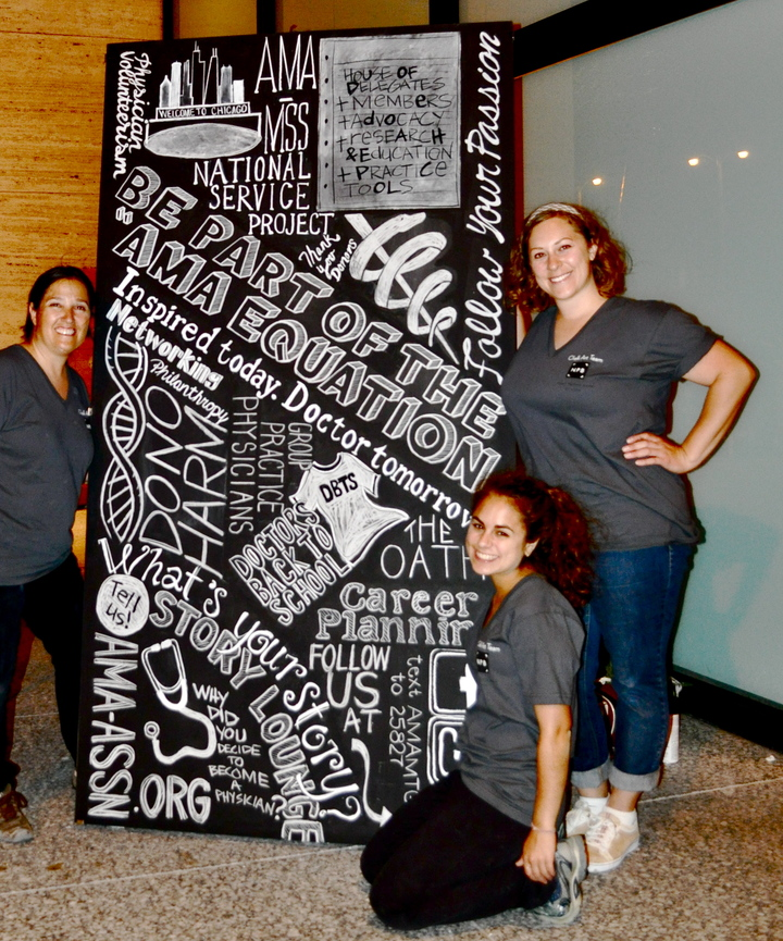 Chalk Art For The American Medical Association T-Shirt Photo