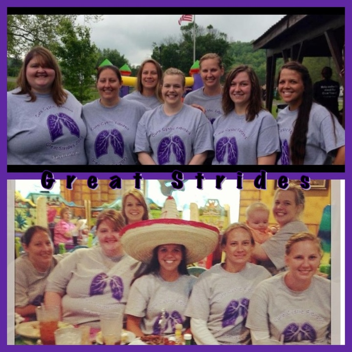 Great Strides For Cf!  T-Shirt Photo