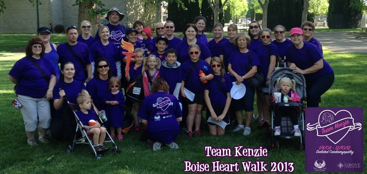 Team Kenzie~Boise Heart Walk 2013 T-Shirt Photo