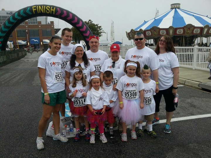 Pongos Pacers, Before The Color Run T-Shirt Photo