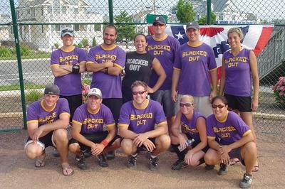 Softball Tournament Team Photo T-Shirt Photo