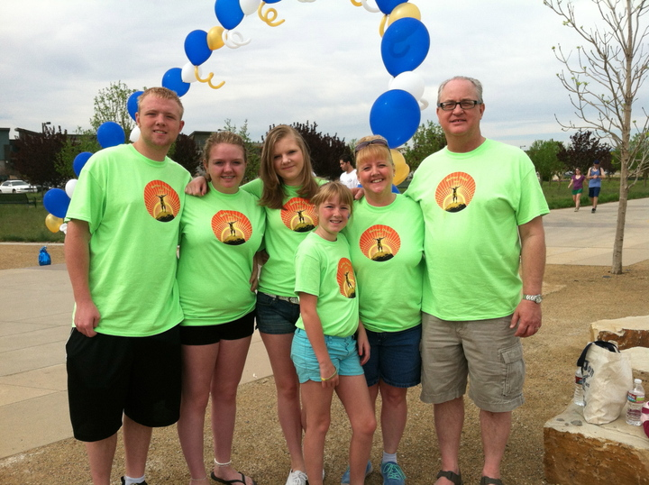 Better Days Family Team At Nami Walks Denver T-Shirt Photo