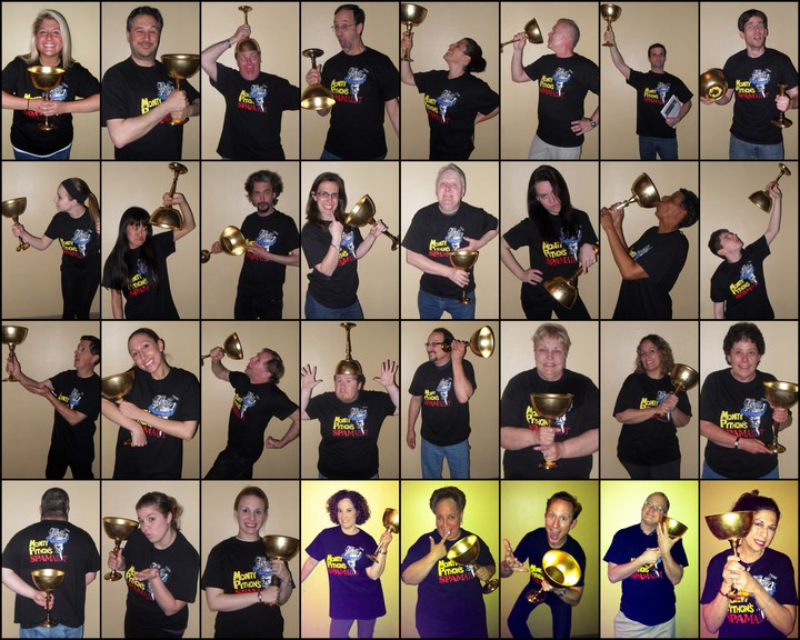 Spamalot Cast 2013 T-Shirt Photo