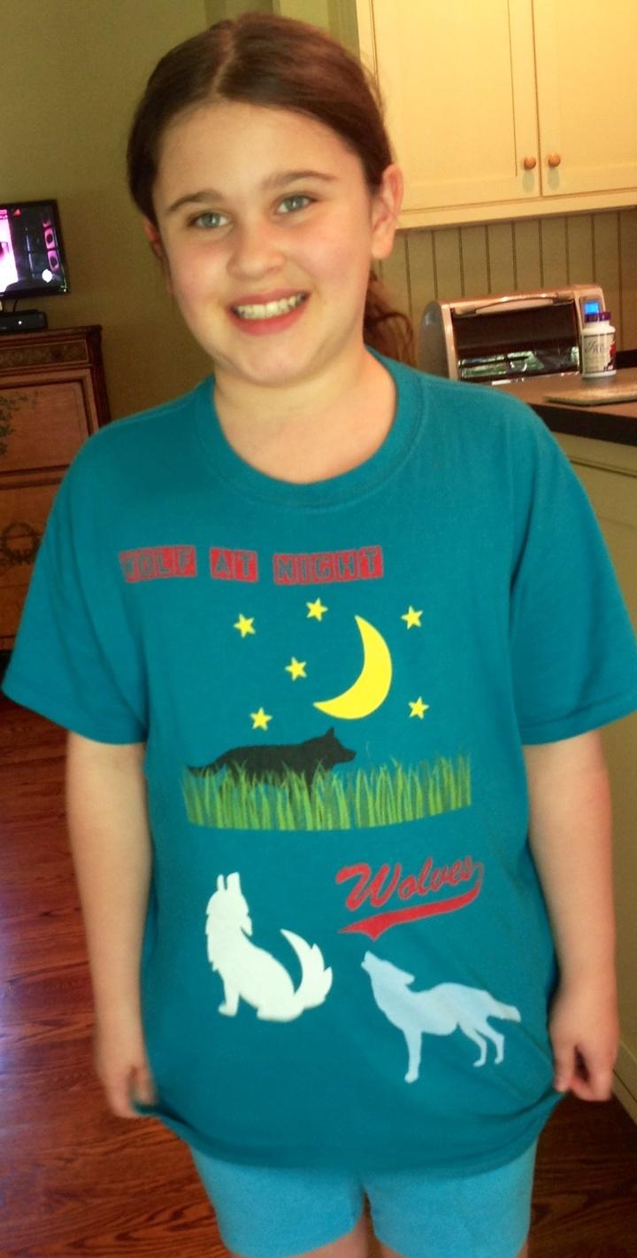 Cali's Wolf Tee T-Shirt Photo