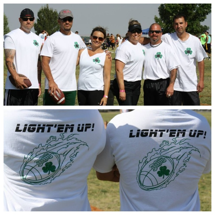 Light'em Up   Hike It & Spike It 4 On 4 Flag Football Tournament T-Shirt Photo