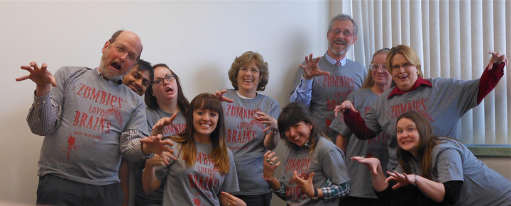 Zombies Of The Graduate School T-Shirt Photo