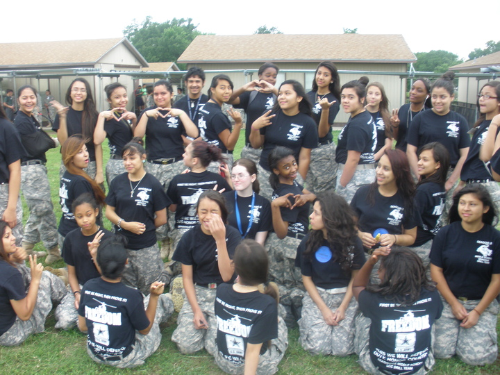 Drill Team Front&Back T-Shirt Photo