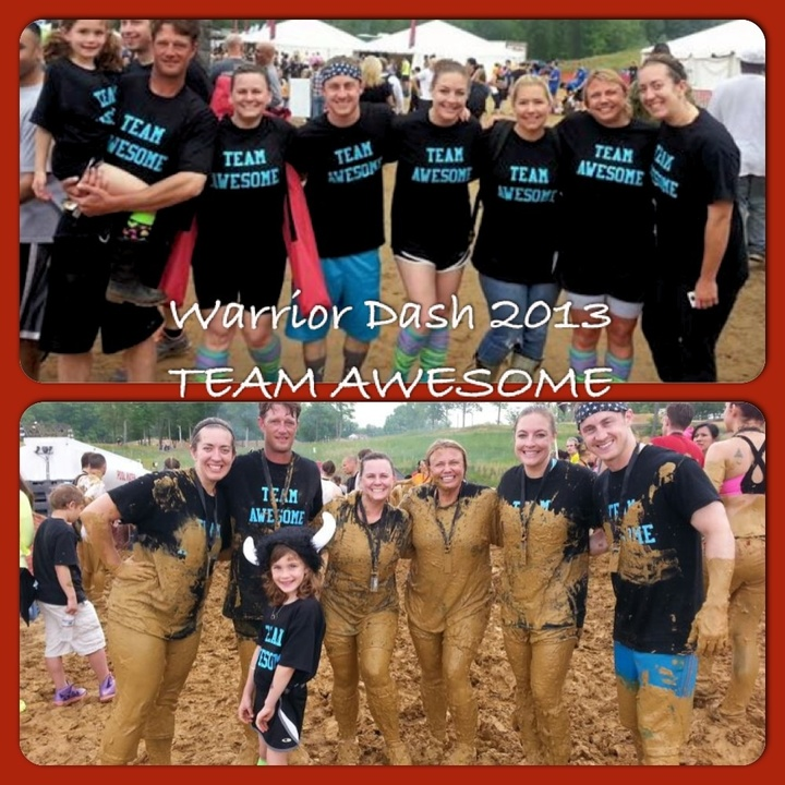 Team Awesome At Warrior Dash 2013 T-Shirt Photo