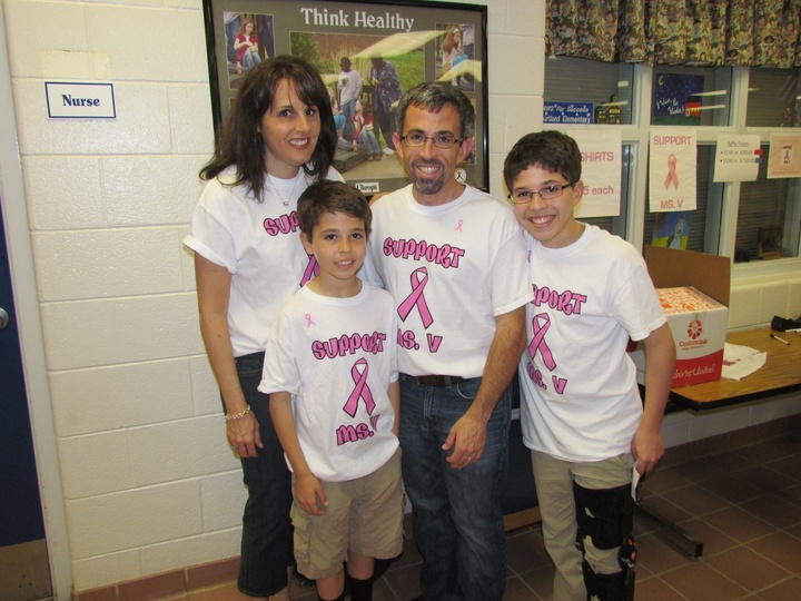 Support Ms. V Fundraiser At The School T-Shirt Photo