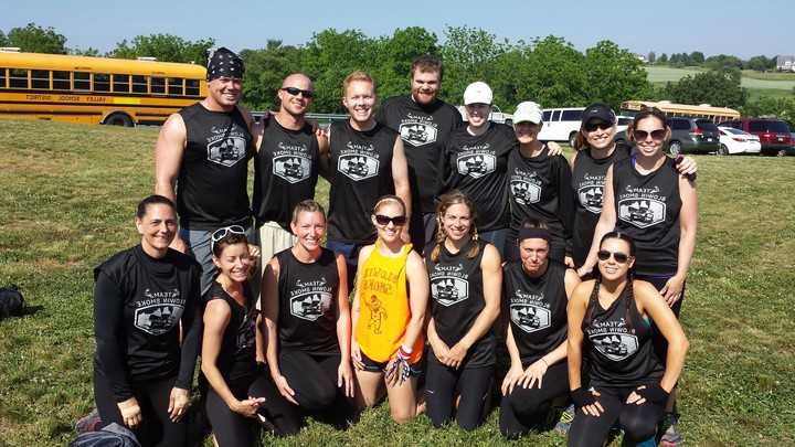 "Tough Mudder Philadelphia ""Team Blowing Smoke"" T-Shirt Photo"