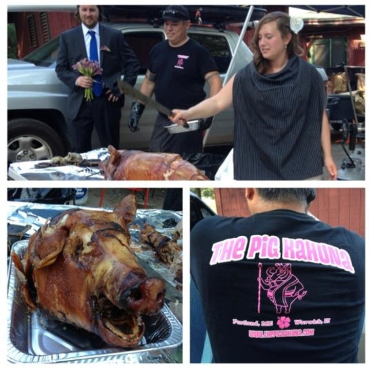 The Bride Cuts The Pig! T-Shirt Photo