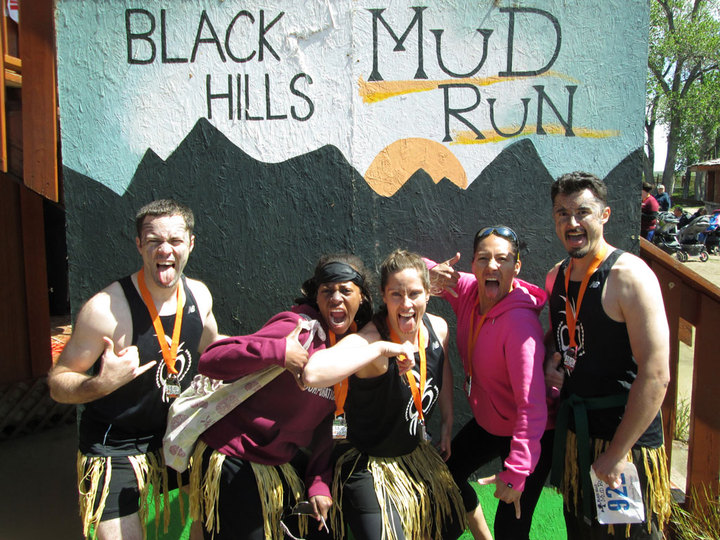 Team Moko Moko At The Black Hills Mud Run T-Shirt Photo