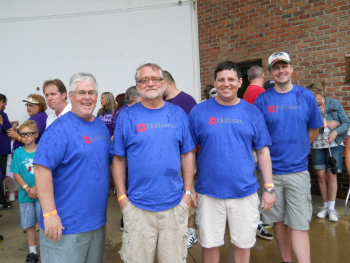 Our Soaking Wet Team At The Crohn's & Colitis Take Steps Walk In Nashville T-Shirt Photo