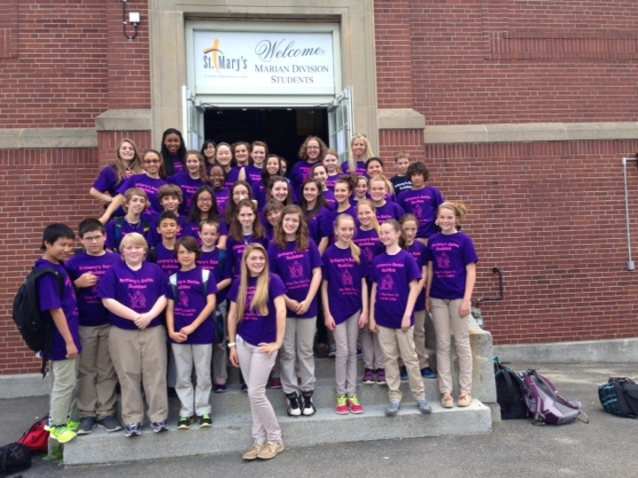 Britt's St Mary's Classmates Support  Colitis Fundraiser T-Shirt Photo