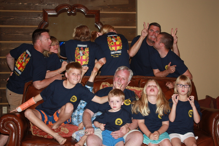 Dad's 70th Birthday Celebration T-Shirt Photo