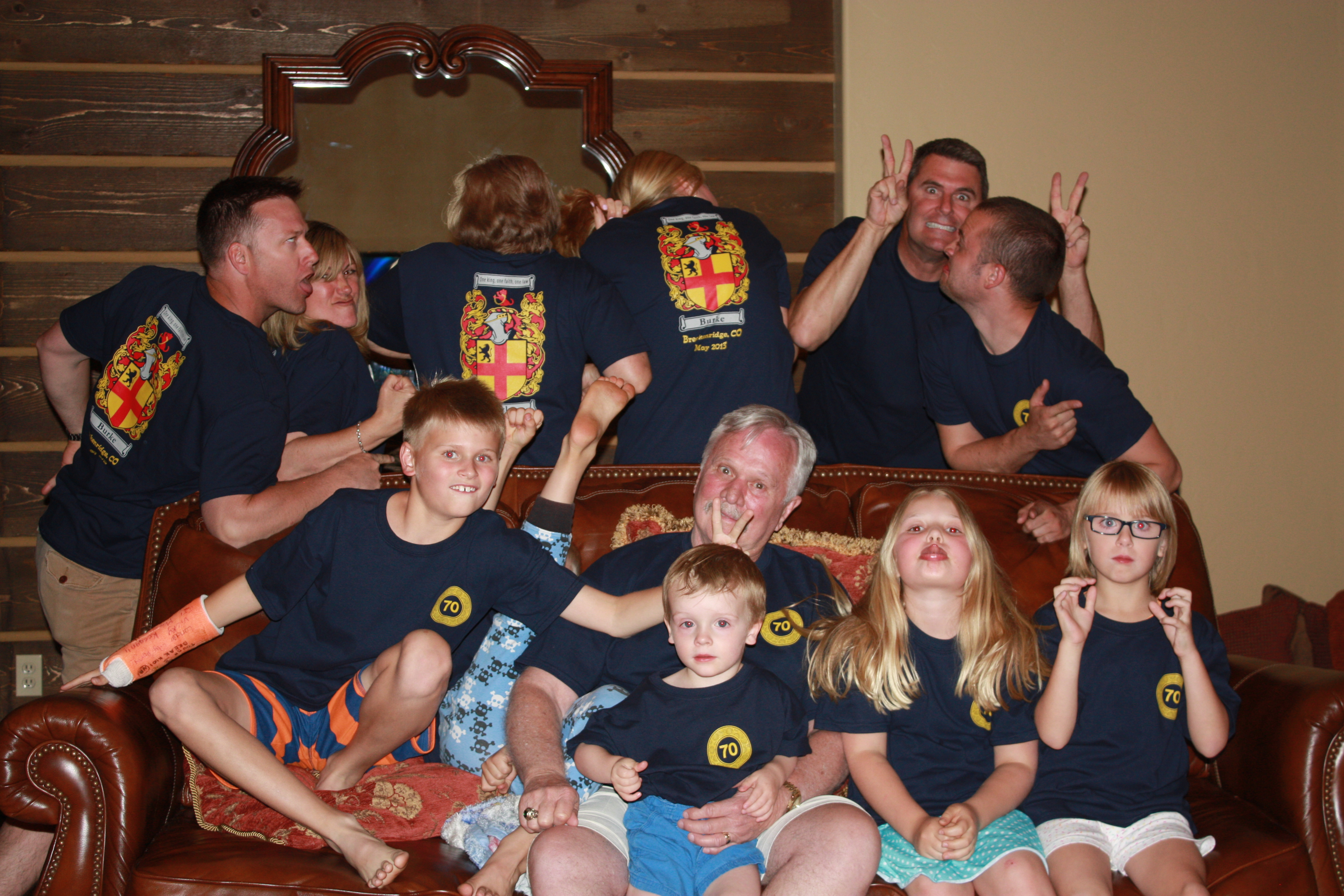Custom T Shirts For Dads 70th Birthday Celebration